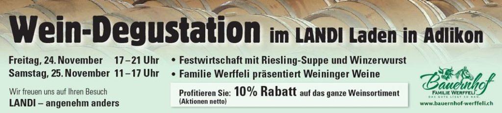 Weindegu Landi 11.2018_bauernhof Werffeli